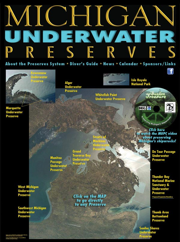 Great Lakes shipwrecks: Michigan Underwater Preserves protect shipwrecks in Lake Michigan, Lake Superior and Lake Huron